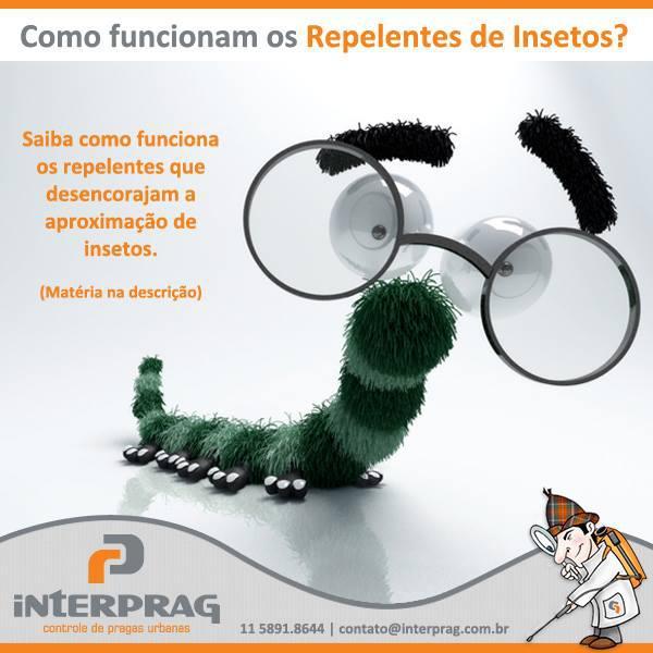 Como funcionam os repelentes para insetos?